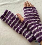 Pulswärmer Handschuhe oben ohne Unikat