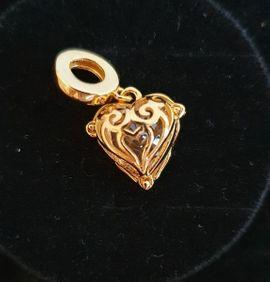 Bild 4 - Echt Silber vergoldet Charm Herz - Ostfildern