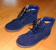 NEUE blaue Schnürstiefel Boots Größe