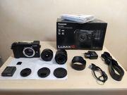 Panasonic DC-GX9W Systemkamera 12-32mm 35-100mm