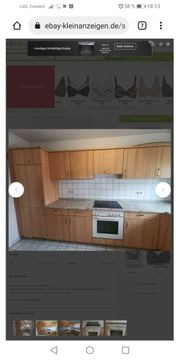 Gebrauchte Einbauküche ohne E-Geräte