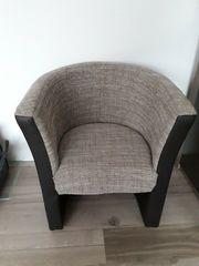 2 Sessel aus Kunstleder Stoff