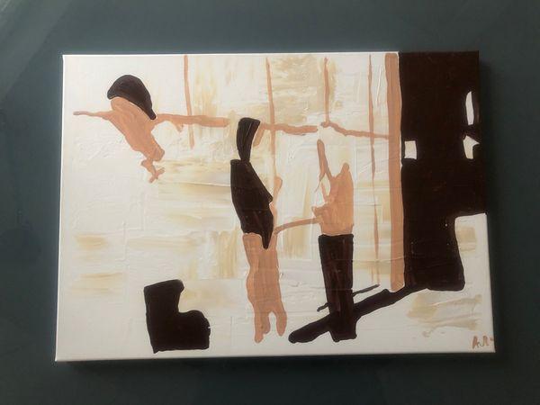 Modernes abstraktes Original Gemälde Acryl