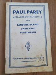 Paul Parey-Vertragsbuchhandlung Landwirtschaftl Gartenbau Forstwesen