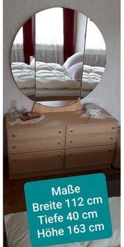 Kommode mit großem Spiegel Schränkchen
