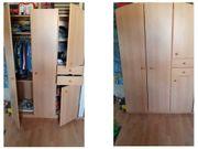 Welle Schrank Kinderzimmer Kleiderschrank Buchefarben