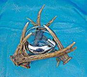 Aschenbecher Jagd Horn Kristallglas alt