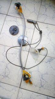 Küchenstrahler mit Glaslampe u Pendel