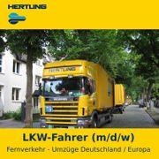 LKW-Fahrer m w d Fernumzüge