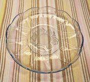 Glasschale Blau-transparent DDR 777g 26