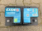 Autobatterie EXIDE Start-Stop AGM 70Ah
