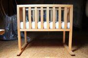 Babywiege aus Holz Babybett - Kinderwiege -