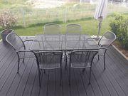 Gartentisch mit 6 Stühlen aus