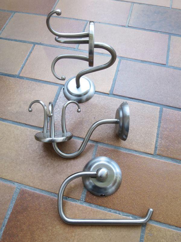 Edelstahl-Badezimmerhaken Edelstahl-Toilettenpapierhalter