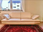 2 x Leder Couch Sofa