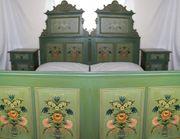 Doppelschlafzimmer Bauernmalerei