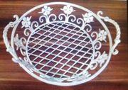 Schale Korb aus Eisen Shabby