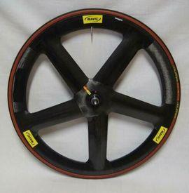 Fahrradzubehör, -teile - Mavic IO-5-Speichen-Spezial-Carbon-Vorderrad mit Tufo S3
