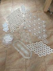 8 Handgefertigte Tischdecke Häkelmuster Baumwolle