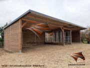 Weidehütte Offenställe Unterstand Aussenboxen Pferdeboxen
