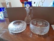 Vier schöne Teile aus Glas