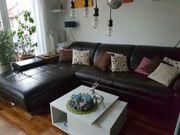 Schicke Leder - Wohnlandschaft Sofa in