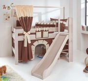 Hochbett Spielbett Kinderbett mit Rutsche