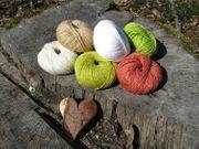 Jutegarn Baumwollgemisch in vielen Farben