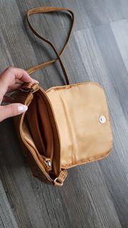 Handtasche beige braun Reissverschluss wie