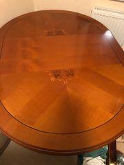 Kirschbaumtisch groß mit 3 Stühlen
