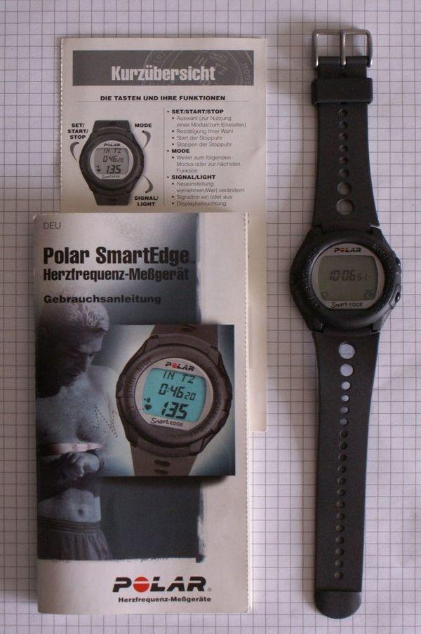 Polar Uhr (Pulsuhr, Laufuhr) Herzfrequenzmessgerät mit Tasche