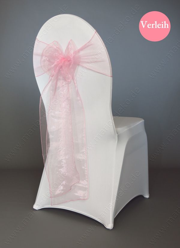 Rosa Organza Stuhlschleifen Stuhlbänder Rosa