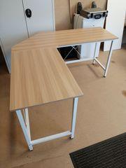 Eck Schreibtisch schmal 150x150 nur