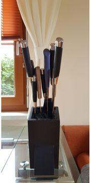 Messerblock mit elf 11 Küchenmessern