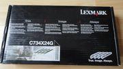 Nagelneue Original-LEXMARK Fotoleitereinheit C734X24G 4er-