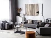 Lounge Set grau 5-Sitzer ROVIGO