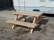 Picknick Sitzgruppe Bank Tisch Lärche
