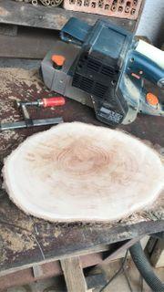 Holzscheibe Baumscheibe Holzdeko basteln