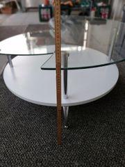 Runder Glastisch