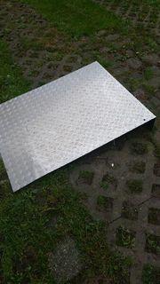 Auffahrrampe Riffelblech Aluminium
