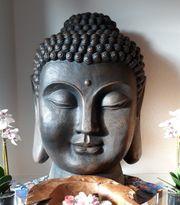 Buddha Kopf-Statue Deko Feng-Shui Innen