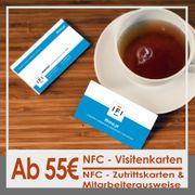 Individuell gestaltete NFC-Karten Besucher - Mitarbeiterausweise