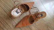 Sandalette Pumps zum Schnüren WIE