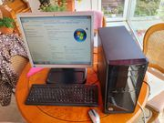 HP-Desktop PC mit HP-Monitor