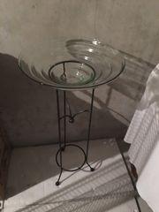 Metallständer mit Glasschale