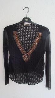 leichtes schwarzes Shirt zum Überziehen