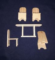 Tisch Stuhl Set aus Holz