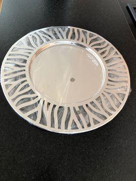 Deko-Tischteller silber verchromt 48cm