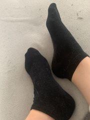 Hand Fuß Bilder getragene Socken
