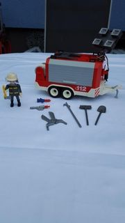 Playmobil Feuerwehranhänger von 2002